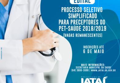 Prefeitura abre Processo Seletivo Simplificado para Preceptores do PET-Saúde 2018/2019